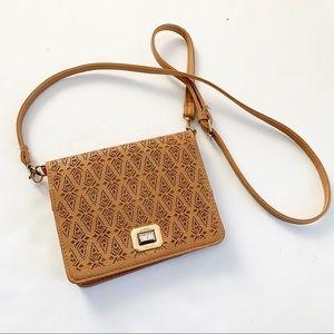 3 for $25 Boho Tan Perforated Crossbody Bag